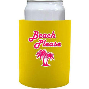 "Beach Please Thick Foam""Old School"" Can Coolie"