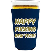 Load image into Gallery viewer, Merry Fucking Christmas and Happy Fucking New Years Pint Glass Koozie Set