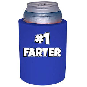 royal blue old school thick foam with number one farter design