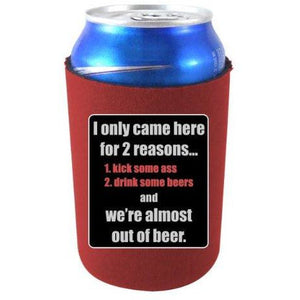 can koozie with for 2 reasons design