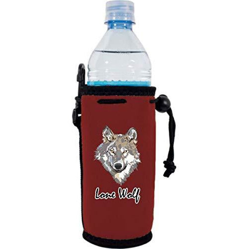 burgundy water bottle koozie with funny