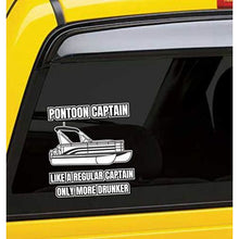 Load image into Gallery viewer, Pontoon Captain Vinyl Sticker 5 Inch, Indoor/Outdoor