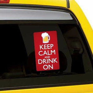 Keep Calm and Drink On Vinyl Sticker