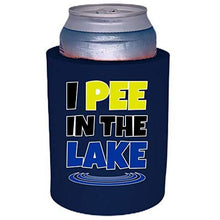 "Load image into Gallery viewer, I Pee In The Lake Thick Foam ""Old School"" Can Coolie"