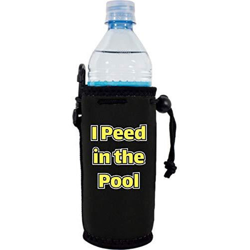 black water bottle koozie with
