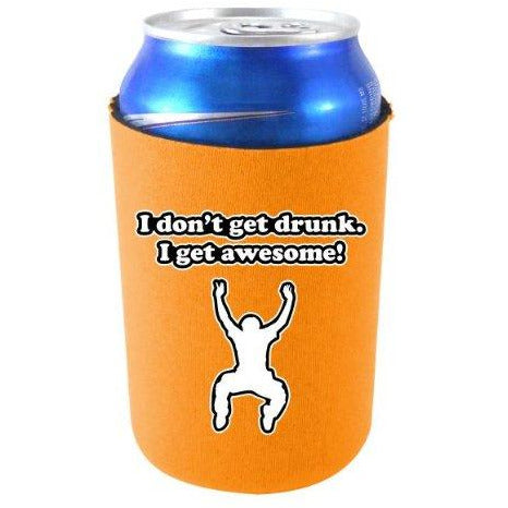 orange can koozie with