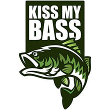 Load image into Gallery viewer, Kiss My Bass Vinyl Sticker 5 Inch, Indoor/Outdoor