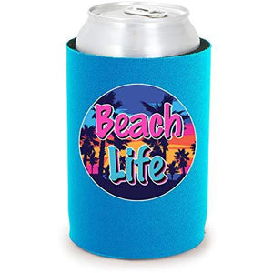 Beach Life Full Bottom Can Coolie