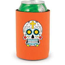 Load image into Gallery viewer, full bottom can koozie with sugar skull design