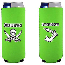 Load image into Gallery viewer, Captain and First Mate Slim 12 oz Can Coolie Set
