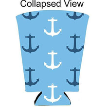 Load image into Gallery viewer, Nautical Anchor Pattern Pint Glass Coolie