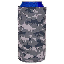 Load image into Gallery viewer, 16 oz can koozie with digital camo all over print design