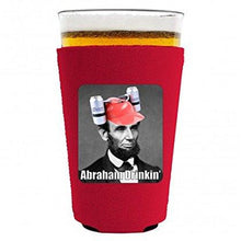 Load image into Gallery viewer, Abraham Drinkin' Pint Glass Coolie