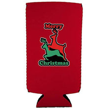Load image into Gallery viewer, Merry Christmas Reindeer Humping Slim 12 oz Can Coolie