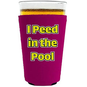 I Peed in the Pool Pint Glass Coolie