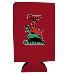 Merry Christmas Reindeer Humping 16 oz. Can Coolie