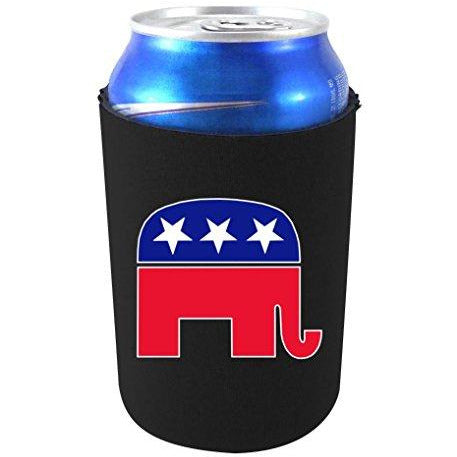 Republican Party Elephant Logo Can Coolie