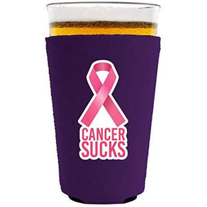 Cancer Sucks Neoprene Pint Glass Coolie