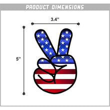 Load image into Gallery viewer, America Peace Sign Vinyl Sticker