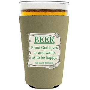 Beer Proof Pint Glass Coolie