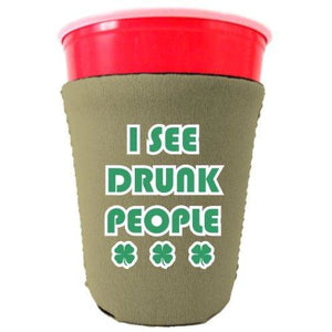 I See Drunk People Party Cup Coolie