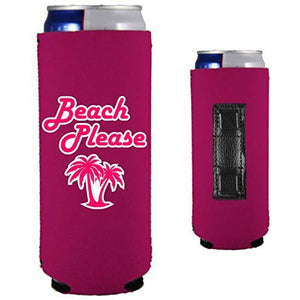 Beach Please Magnetic Slim Can Coolie