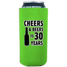 Load image into Gallery viewer, Cheers & Beers to 30 Years 16 oz Can Coolie