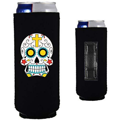 Sugar Skull Magnetic Slim Can Coolie