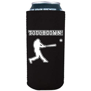 16 oz can koozie with touchdown design
