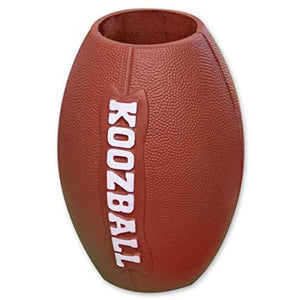 Koozball Throwable Football Can Cooler