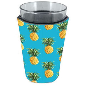 pint glass koozie with pineapple pattern design