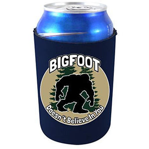 Bigfoot Doesn't Believe In You Neoprene Collapsible Can Coolie