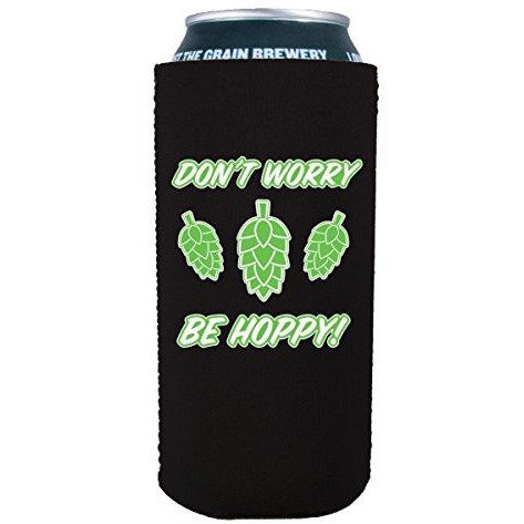 16 oz can with dont worry be hoppy design