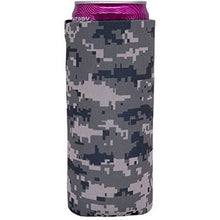 Load image into Gallery viewer, slim can koozie with digital camo design