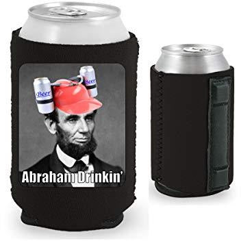 Abraham Drinkin' Magnetic Can Coolie