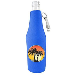 Palm Tree Sunset Bottle Coolie With Opener