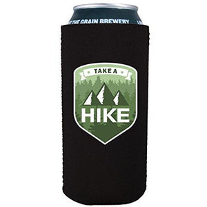 16 oz koozie with take a hike design