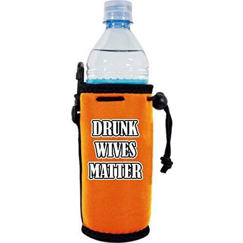 orange water bottle koozie with