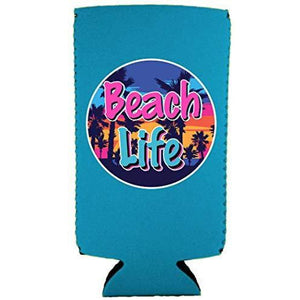 Beach Life Slim 12 oz Can Coolie