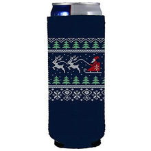 Load image into Gallery viewer, slim can koozie with christmas design