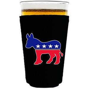 Democratic Party Donkey Logo Pint Glass Coolie