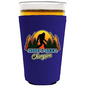 Bigfoot Hide & Seek Champion Pint Glass Coolie