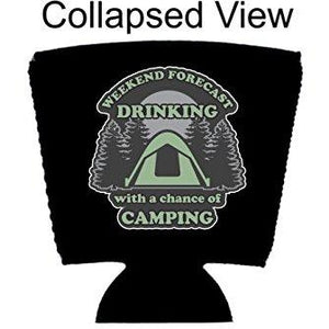 Weekend Forecast Drinking with a chance of Camping Party Cup Coolie