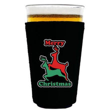 Load image into Gallery viewer, Reindeer Christmas Pint Glass Coolie