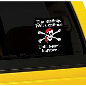The Beatings Will Continue Until Morale Improves Vinyl Sticker