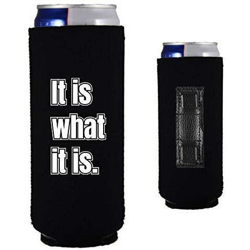 magnetic slim can koozie with