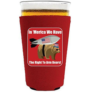 Right to Arm Bears Pint Glass Coolie