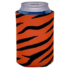 Load image into Gallery viewer, can koozie with tiger stripe design