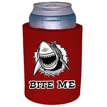 Load image into Gallery viewer, red old school thick foam with bite me shark design