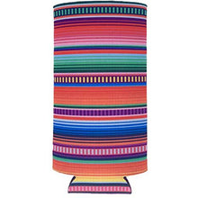 Load image into Gallery viewer, Serape Pattern Slim Can Coolie